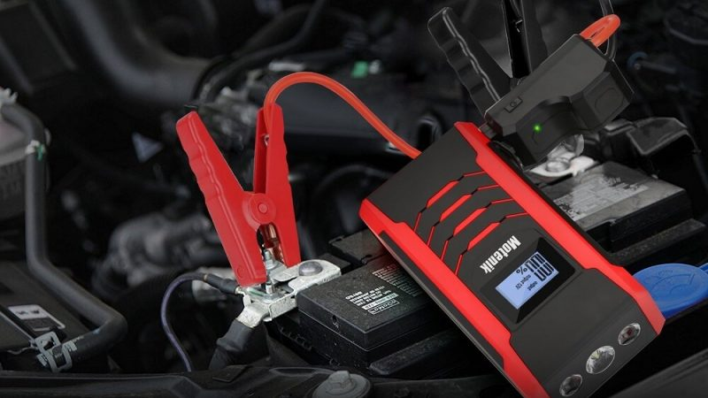 800A Peak Jump Starter with Emergency Light 4 Modes Motenik Car Jump Starter
