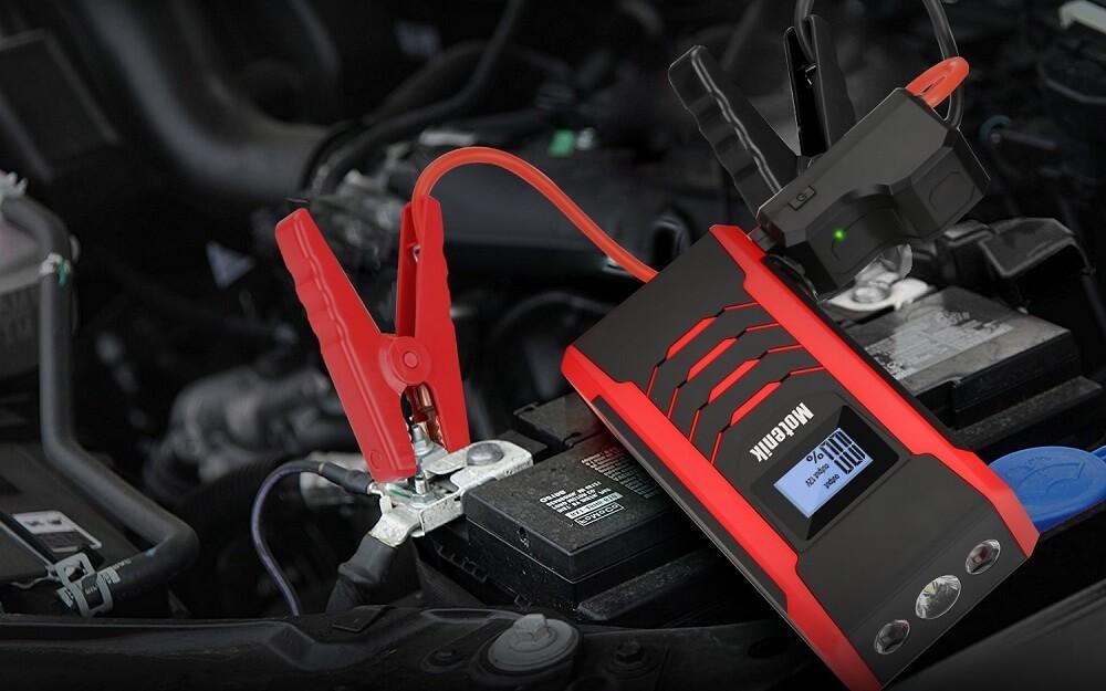 800A Peak Jump Starter with Emergency Light 4 Modes Motenik Car Jump Starter