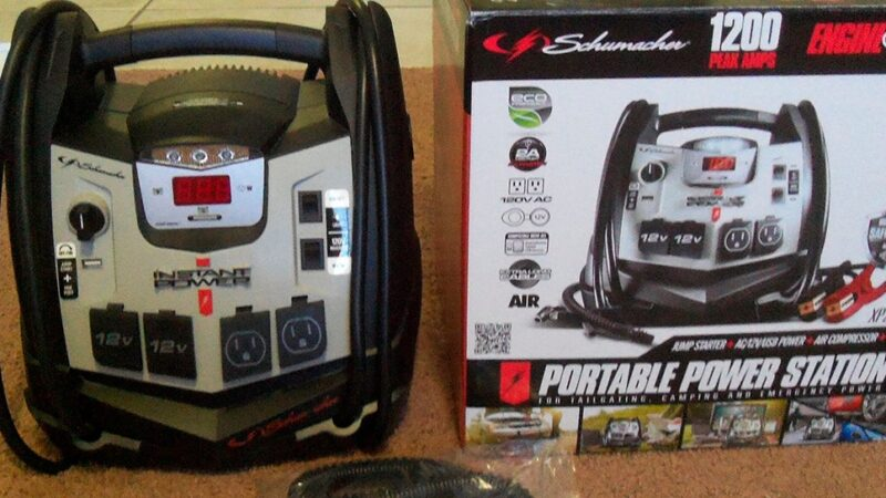 Schumacher XP2260 1200 Peak Amp Instant Portable Power Source and Jump Starter