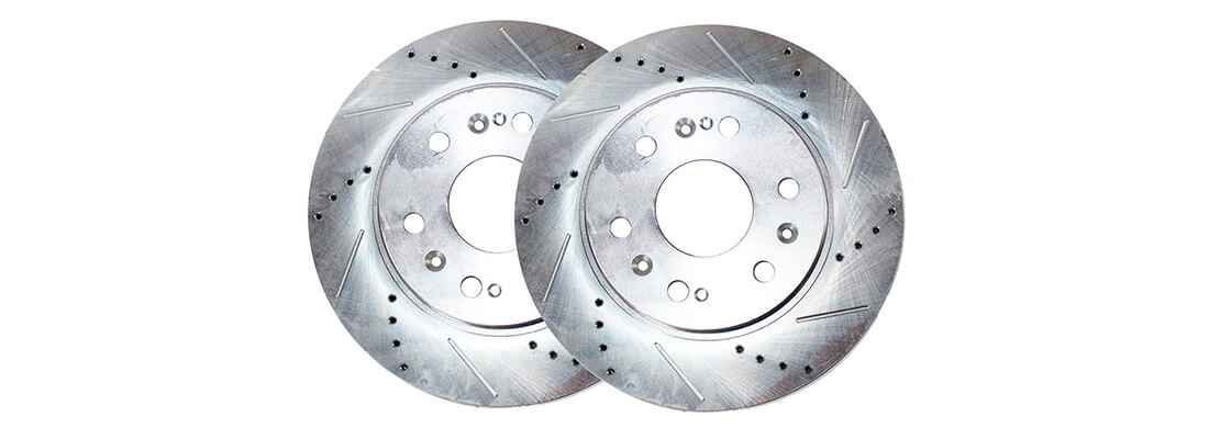 Detroit Axle S-54153 Front Cross Drilled and Slotted Brake Rotor