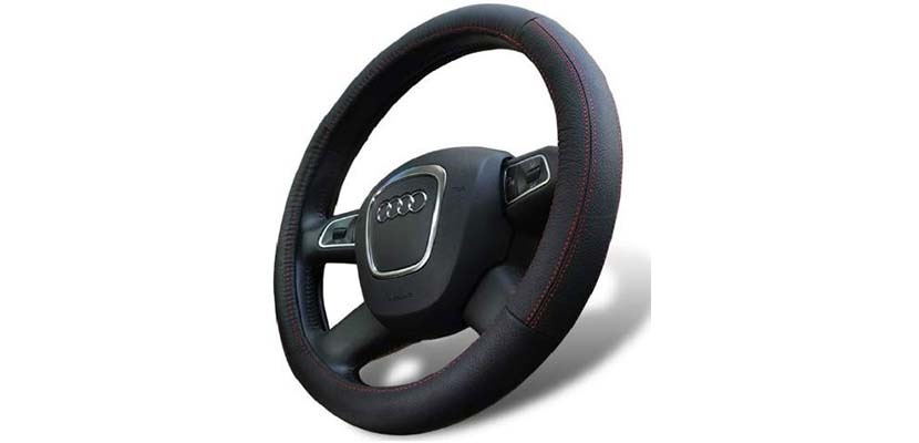 D8 Universal Fit Leather Steering Wheel Cover