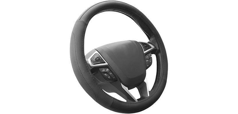 SEG Direct Black Car Steering Wheel Cover